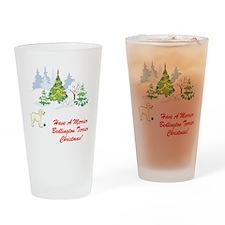 Bedlington Terrier Christmas Pint Glass