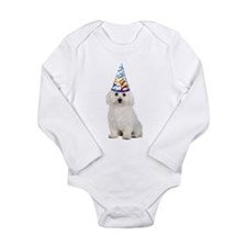 Bichon Frise Party Long Sleeve Infant Bodysuit