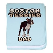 Boston Terrier Dad baby blanket