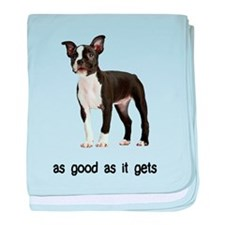 Good Boston Terrier baby blanket