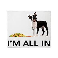 Boston Terrier Poker Throw Blanket