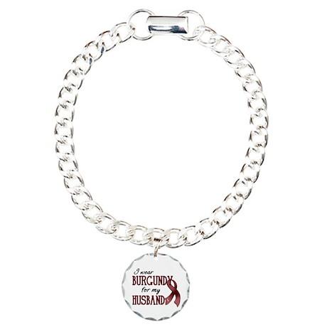 Wear Burgundy - Husband Charm Bracelet, One Charm