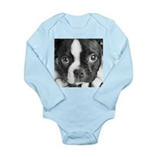 Boston Terrier Long Sleeve Infant Bodysuit