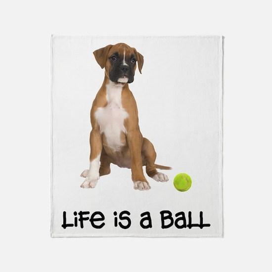 Boxer Life Throw Blanket