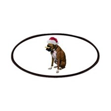 Santa Boxer Christmas Patches