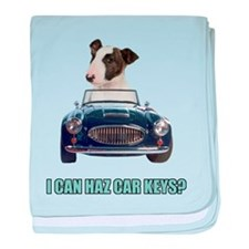 LOL Bull Terrier baby blanket