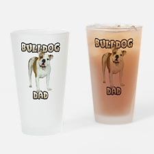 Bulldog Dad Drinking Glass