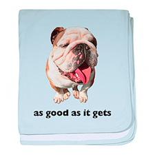 Good Bulldog Photo baby blanket