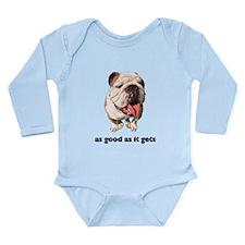 Good Bulldog Photo Long Sleeve Infant Bodysuit