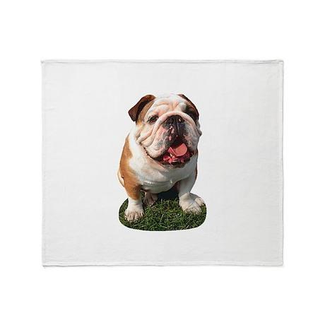 Bulldog Photo Throw Blanket