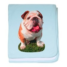Bulldog Photo baby blanket
