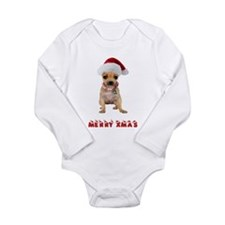Christmas Chihuahua Long Sleeve Infant Bodysuit