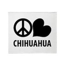 Peace Love Chihuahua Throw Blanket