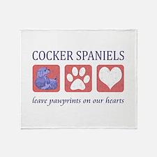 Cocker Spaniel Lover Gifts Throw Blanket