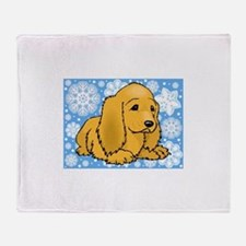 Holiday Cocker Spaniel Throw Blanket