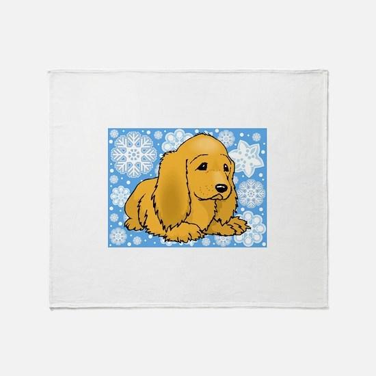 Holiday Cocker Spaniel Throw Blanket
