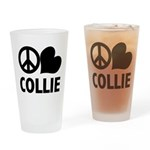 Peace Love Collie Pint Glass