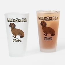 Dachshund Mom Drinking Glass
