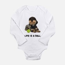 Wirehaired Dachshund Life Long Sleeve Infant Bodys