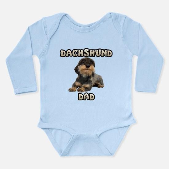 Wirehaired Dachshund Dad Long Sleeve Infant Bodysu
