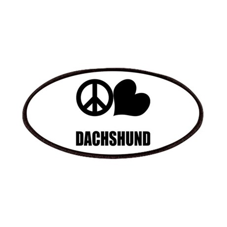 Peace Love Dachshund Patches
