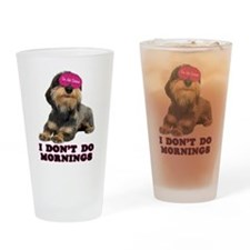 Wirehaired Dachshund Mornings Pint Glass