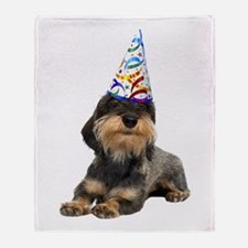 Wirehaired Dachshund Party Throw Blanket