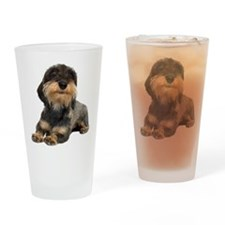 Wirehaired Dachshund Pint Glass