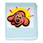 Happy Dachshund Cartoon baby blanket