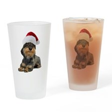 Wirehaired Dachshund Christma Pint Glass