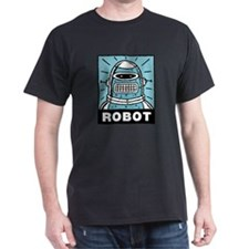 Retro Robot Black T-Shirt