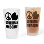 Doberman Pinscher Drinking Glass