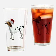 English Foxhound Christmas Pint Glass