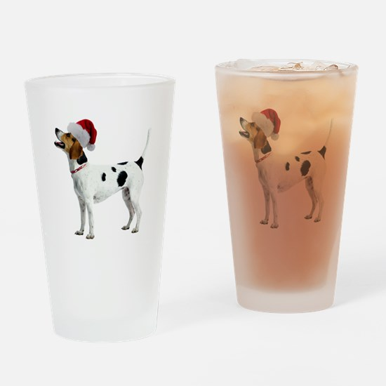 English Foxhound Christmas Pint Glass