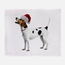 English Foxhound Christmas Throw Blanket