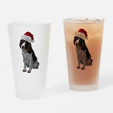 Springer Spaniel Santa Pint Glass