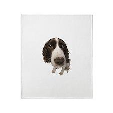 Springer Spaniel Close-Up Throw Blanket