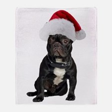 French Bulldog Christmas Throw Blanket