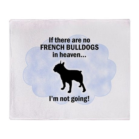 French Bulldogs In Heaven Throw Blanket