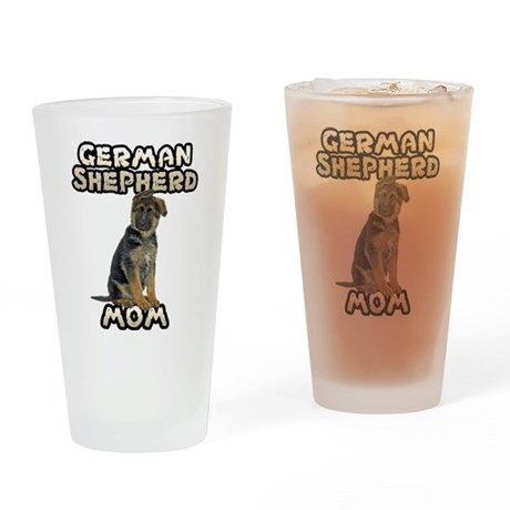 German Shepherd Mom Drinking Glass