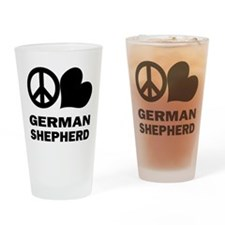 Peace Love German Shepherd Pint Glass
