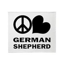 Peace Love German Shepherd Throw Blanket