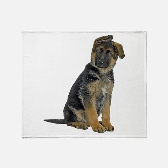 German Shepherd Puppy Throw Blanket