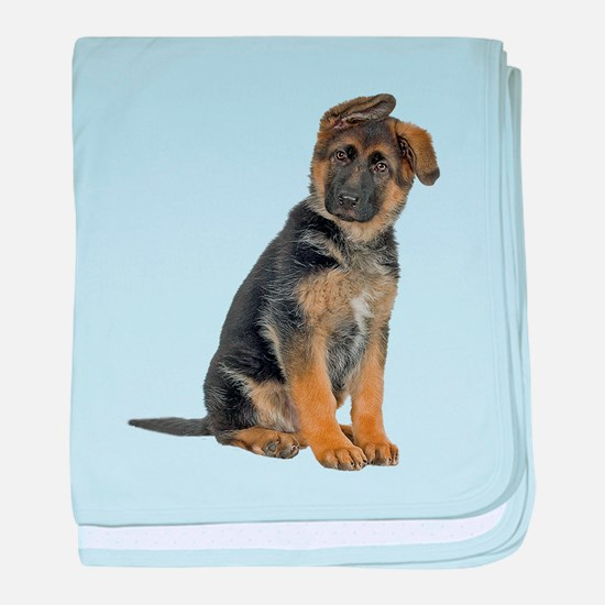 German Shepherd Puppy baby blanket
