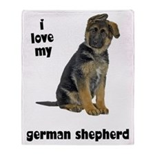 German Shepherd Love Throw Blanket