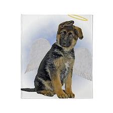 Angel German Shepherd Puppy Throw Blanket