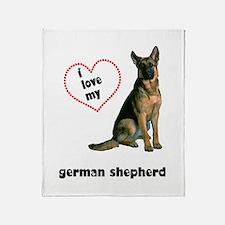 German Shepherd Lover Throw Blanket