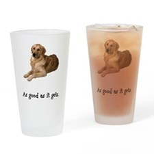Good Golden Retriever Pint Glass