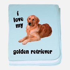 Golden Retriever Lover baby blanket