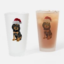 Gordon Setter Christmas Pint Glass
